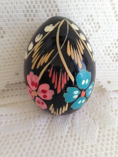 Easter wedding gift ideas hand painted egg by paintedeggs on etsy items similar to vintage hand painted egg gorgeous detailing and bright fetching colours decor easter gift on etsy negle Image collections