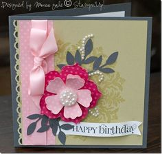 Stampin' Up! - Medallion & Curly Cute with Big Shot Fun Flowers and Little Leaves Dies