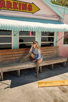 Chloe Sevigny poses in Jimmy Choo Dexie Flat Suede Peep Toe Boots