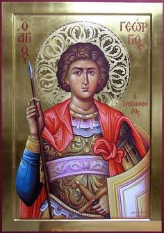 icon of St. Byzantine Icons, Byzantine Art, Religious Icons, Religious Art, Visual Literacy, Archangel Michael, Art Icon, Saint George, Orthodox Icons