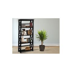 Display your reading material and knickknacks with this five-shelf bookcase by Montego. The solid wood design offered in a variety of finishes ensures that you find the perfect one to complement your home decor. This open bookcase looks delicate yet gives you sturdy space to show off your favorite treasures. The 63 inches high by 12 inches long by 29.5 inches wide dimensions of this five-tier bookcase let you store a large collection of books so that you can easily find your favorite novel…
