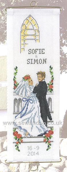 Bride and Groom Bellpull