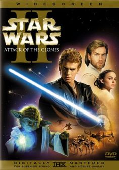 The STAR WARS saga continues on DVD with Episode II Attack of the Clones. Anakin Skywalker has grown into an accomplished Jedi apprentice, and he faces his most difficult challenge yet as he must choose between his Jedi duty and forbidden love. Relive the adventure the way it was meant to be seen in spectacular digital clarity, including the climactic Clone War battle and Jedi Master Yoda in the ultimate lightsaber duel. Experience this 2-disc set that features over six hours