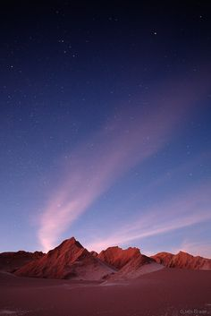 Moonlit martian landscape in Valle de la Muerte near San Pedro de Atacama in northern Chile. Photo: Jack Brauer.