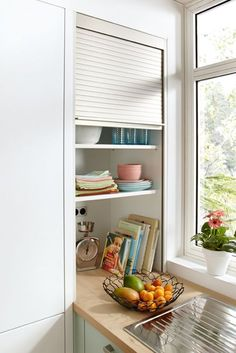 Versteckt Unordnung In Der Küche, Wenn Besuch Kommt: Der Rolloschrank Von  Global Küchen.