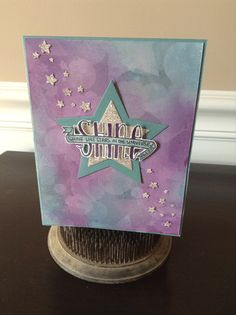 """Banner Blessings Photopolymer Stamp set by Stampin' Up! NEW Nov. 2014! http://www.stampinup.com/ECWeb/ProductDetails.aspx?productID=136720&dbwsdemoid=58016  """"Shine"""""""