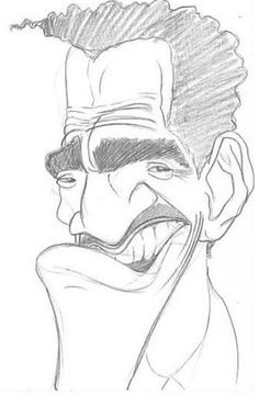 Sammy Davis Jr. - /Don Pinset. No matter the shape or the heaviness of the lines used, it's always possible to portrait Sammy as the performer he's always been.