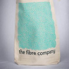 "The Fibre Co. Cable Project Bag 100% organic cotton project bag printed with a hand-drawn cable stitch pattern. Measures 13 x 9 x 3.5"" (33 x 22.75 x 8.75 cm). Printed and sewn in the USA.- $12."