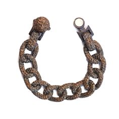 KMO Small Curbed Link Bracelet - Green 8
