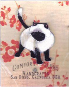 Siamese Cat, Pin. $4.00, via Etsy.