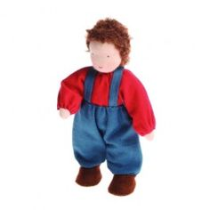 Small Family Dolls - Boy, Brown Hair. Made in Europe. $29.95