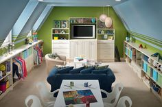 Kids would love this room, but then I probably wouldn't see them. It is cute though.