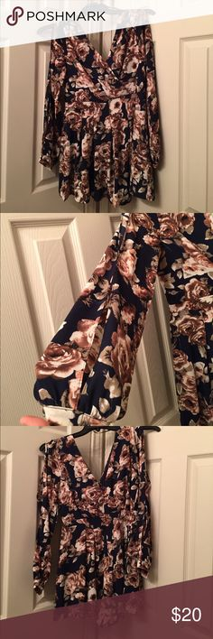A'gaci Floral Romper Very cute long sleeve floral romper. Worn only once. a'gaci Other