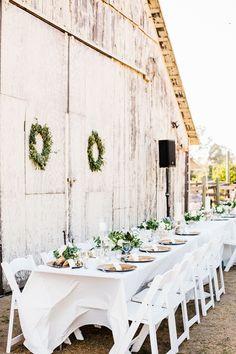 Cayucos Creek Barn Wedding By David Pascolla Photography Farm Wedding, Wedding Table, Rustic Wedding, Wedding Reception, Wedding Favours, Garden Wedding, Wedding Hair, Rustic Outdoor, Rustic Barn