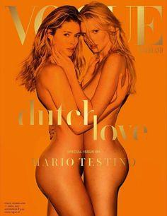 Doutzen Kroes & Lara Stone by Mario Testino for Vogue Netherlands April 2017