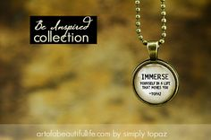 Immerse Yourself Necklace inspirational jewelry by simplytopaz
