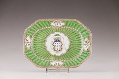 An armorial octogonal dish for the Portuguese market, 1800-1808, Qing Dynasty, Jiaqing Period