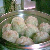 meat filled dumplings Dumplings, Potato Salad, Cauliflower, Side Dishes, Meat, Vegetables, Cooking, Ethnic Recipes, Kitchen