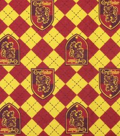 Harry Potter Argyle and Ravenclaw By the yard Character Flannel Fabric 100/% Cotton Flannel