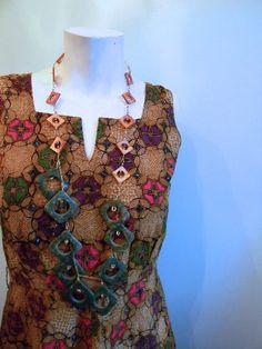 vintage. 50s Handmade Indonesian Batik Dress /  by styleforlife, $62.25