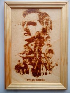 The Walking Dead. Pyrography. Rick Grimes. Michonne. Daryl Dixon. The Governor/ by PyroWell on Etsy