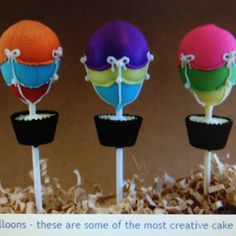 Hot air ballon cake pops