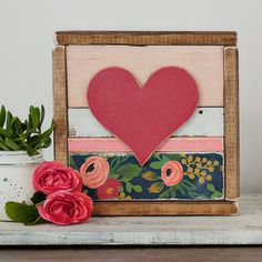 Heart Wood Sign  Julie Heart Wood Wall by HeartBeatsWoodshop