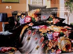 3D Designer Bed Set  Featuring an attractive floral print all over, this bed sheet set will surely make your bedroom look appealing. https://www.facebook.com/krtif