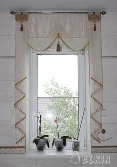 Modern Home Curtain Design Ideas 02 Bed Drapes, Home Curtains, Kitchen Curtains, Drapery, Window Coverings, Window Treatments, Cortinas Country, Rideaux Design, Estilo Shabby Chic