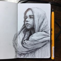 One morning in Hanoi. Moleskine Sketches of Celebrities and other Portraits. By Arthur Gain.