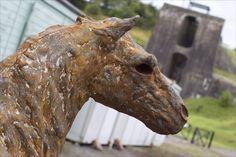 Iron pit pony at Blaenavon