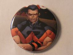 "Comic Book 1.5"" Button// Wonder Man, $1.00"