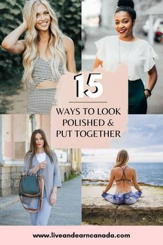 How To Look Polished and Put Together: 15 Ways to Look Polished How To Look Classy, How To Look Better, That Look, Boho Fashion, Fashion Outfits, Fashion Trends, Fashion Ideas, Ettiquette For A Lady, Good Beauty Routine