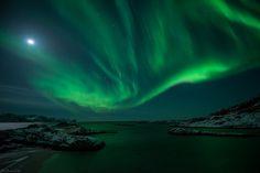 Auroras boreales desde Sommarøya, Troms, Noruega  21 de marzo de 2013  Crédito: Bernt Olsen