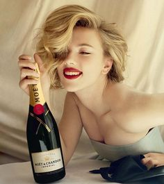 More Scarlett J. - try to find the champagne...