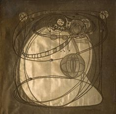 Photograph of an embroidered panel c.1900-10 by Frances Macdonald.