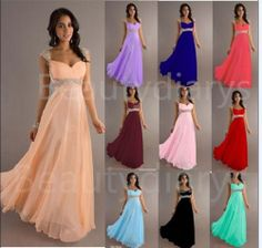 New Chiffon Bridesmaid Evening Dress Party Ball Prom Gown Stock Size 6-16 #Handmade