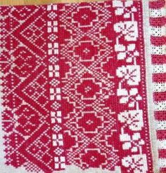 Cross stich embroidery from Trnava region (Western Slovakia)