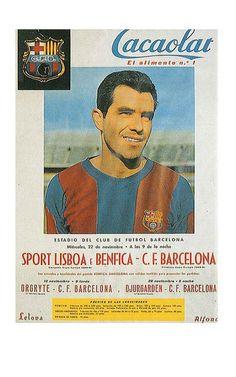 Sport Lisboa e Benfica vs CF Barcelona, FC Barcelona old poster collection | FC Barcelona news