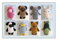 Amigurumi Patterns Crochet Little Critters Pattern Set Digital Download