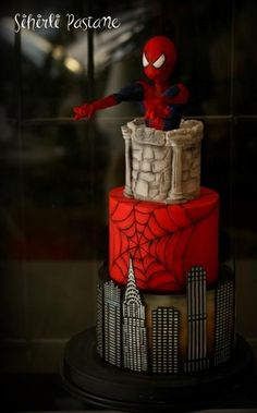 Spiderman Cake by Sihirli Pastane