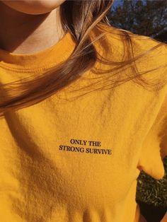 Imagem de yellow, aesthetic, and quotes Mellow Yellow, Mustard Yellow, Tumblr T-shirt, Yellow Theme, Aesthetic Colors, Aesthetic Yellow, Aesthetic Outfit, Aesthetic Shirts, Sky Aesthetic