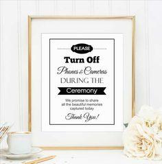 Una boda sin celulares, ¿te atreverías? - Etsy