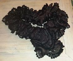 sciarpina marrone testa di moro
