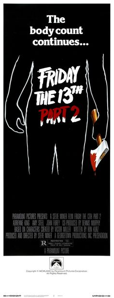 Friday the 13th Part 2 movie poster (1981)