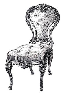 Vintage Clip Art - Frenchy Chair - 4 Options - The Graphics Fairy