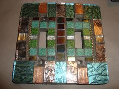 MOSAIC LIGHT SWITCH Plate Double Wall Art by victoriacharlotte