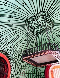The garden room at Casa de la Amistad in Cuba. The art deco design on this ceiling is gorgeous! Architecture Restaurant, Art And Architecture, Art Nouveau, Travel Inspiration, Design Inspiration, Design Ideas, 1920s House, Cuba Travel, Beach Travel