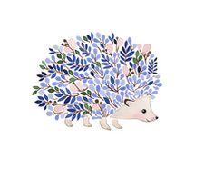 Cute flower hedgehog