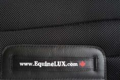 EquineLUX SWEAT-WICKING Saddle Pad - leather patches keep saddle pad from wearing and tearing... http://www.equinelux.com/discount/saddle-pad-J102-B.php